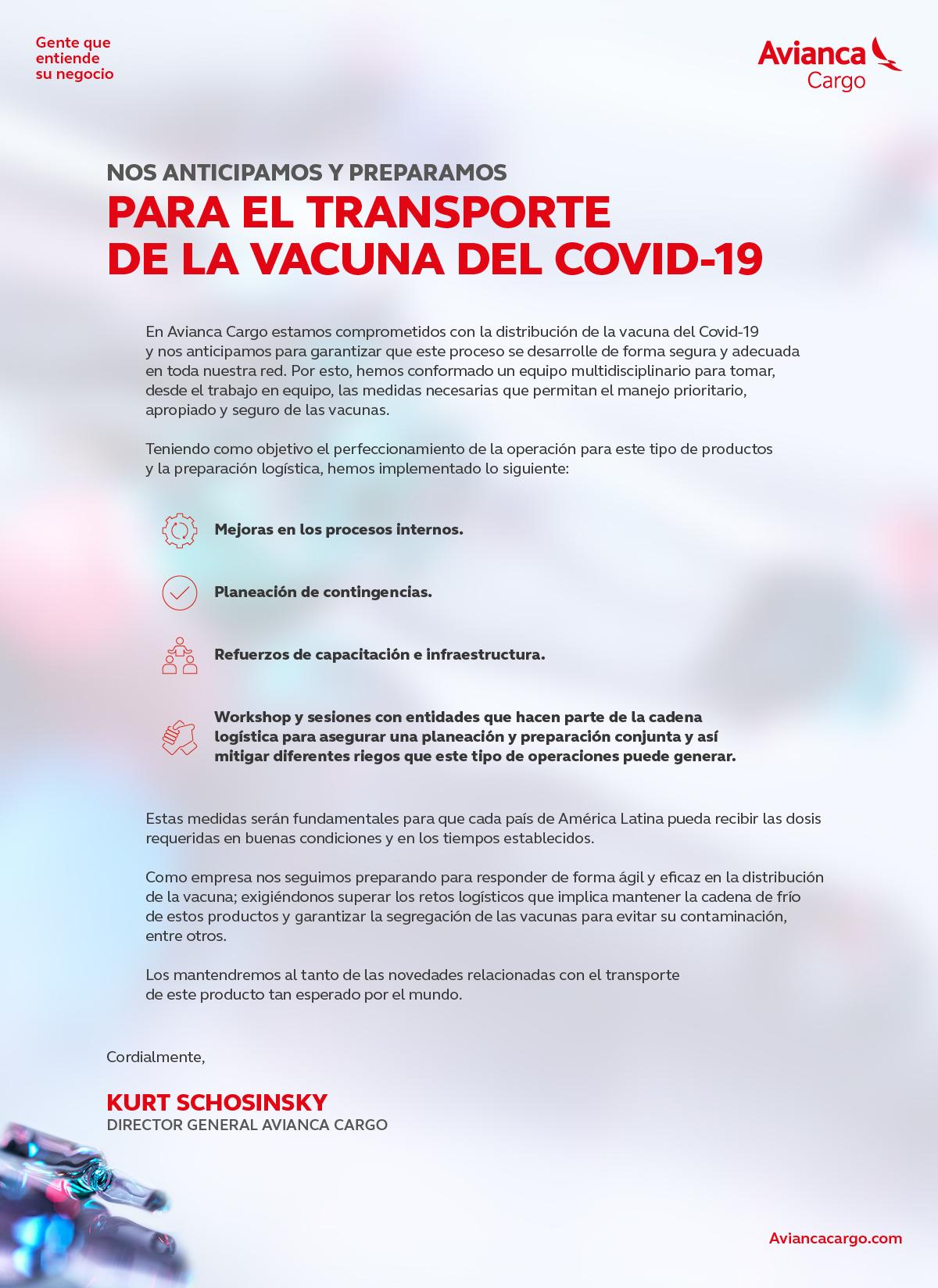 NOS ANTECIPAMOS E NOS PREPARAMOS PARA O TRANSPORTE DA VACINA DO COVID-19